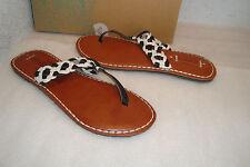 Roxy Womens NWB Mykonos Black White Sandals Shoes 10 MED NEW