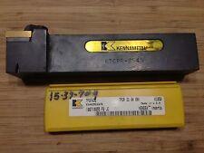 "KENNAMETAL TOOL HOLDER KTGPR-854D 1.25""H x1""W SHANK 6""OAL RH + 5 INSERTS NEW"