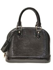 Louis Vuitton Alma Epi Electric BB Noir Black Patent Leather Bag