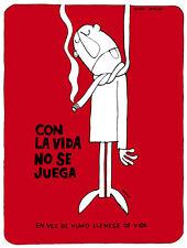 "16x20""Decoration Poster.Interior room design art.Anti smoking print.red.6419"