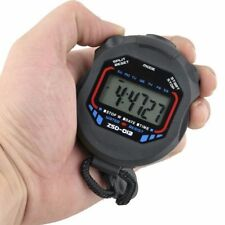 Handheld Stopwatch Digital Chronograph Sport Counter Timer Stop Watch""