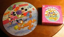 MICKEY MOUSE retro icon Disney jigsaw puzzle Minnie & Pluto round 1980 shopping