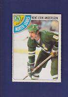 Kent-Erik Andersson RC 1978-79 O-PEE-CHEE OPC Hockey #17 (EXMT) North Stars