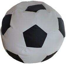 Sitzball L-Fußball/Sitzsack-L/Kunstleder/echte EPS Perlen/In - Outdoor geeignet