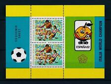[59438] Indonesia 1982 World Cup Soccer Football Spain Ovp in red MNH Sheet