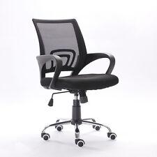 Ergonomic Mid-Back Executive Swivel Black Mesh Office Chair Computer Home Furni