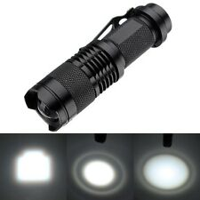 Waterproof MINI LED Flashlight 2000 Lumens CREE Q5 Flash Light Zoom LED Lantern