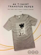 A4 Iron on T-Shirt - Transfer Paper For Ink Jet Print - Pack of 2.
