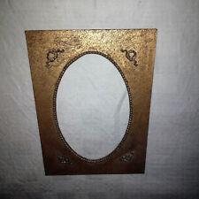 Passe-partout icône relique bois doré patiné format extérieur 13 x 18 cm.