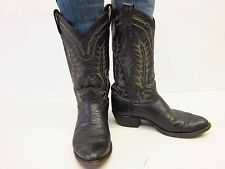 VTG TONY LAMA USA  Mens 9D Bullhide Cowboy Boots Broken in Well Distressed Black