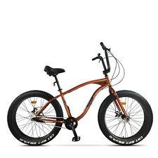 "Bici Custom Fat Bike Pegas 26"" Arancio Alluminio ruote 4 pollici"