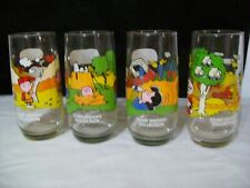 Vintage Set of 4 Camp Snoopy Collection 14 oz. Glasses from McDonalds