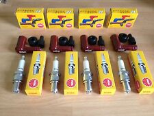 KAWASAKI Z550 A1-A3 GT550 G1-G9 GPZ550 H1-2 NGK SPARK PLUGS AND CAPS FREE POST!