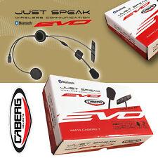 CABERG Headset JUST SPEAK EVO Bluetooth für viele Helme mit Multipoint Intercom