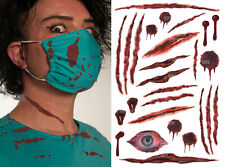 HALLOWEEN FANCY DRESS SCARS WOUNDS CUTS FAKE BLOOD TATTOOS OUTFIT COSTUME (A)