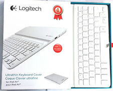 Logitech Wireless Bluetooth Ultrathin Keyboard Case Cover for iPad AIR- White