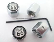 1 Set logo Route 66 Anti-Theft Locking Tire Air Valve Caps Cool 1set Hot