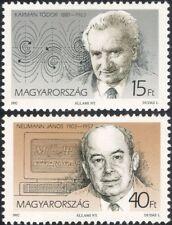 Hungary 1992 Karman/Neumann/Scientists/Science/Mathematics/Space 2v set (n45718)