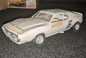 Vintage AMT MARK DONOHUE 1971 AMC JAVELIN AMX HOT ROD MODEL KIT TRANS AM BUILT