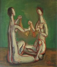 Frederic Taubes  Charade Oil on Canvas  1966