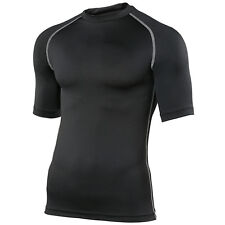 RHINO Base Layer Top Mens Womens Short Sleeve Compression For Sports Gym Rugby