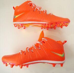 NIKE Mens Huarache 4 LAX LE Orange & White Lacrosse Cleats Size 16 624978-801