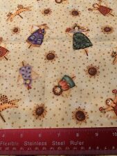 Angels Wings Spiritual Religious Christmas Sunflower Cat Cotton Fabric BTHY