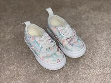 cc22f39781 Vans Girls Authentic Elastic Sneakers Mermaid Ice Flow Glitter Toddler Size  7