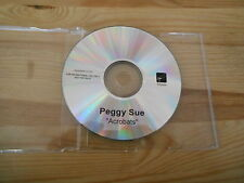 CD Indie Peggy Sue - Acrobats (1 Song) Promo WICHITA REC disc only