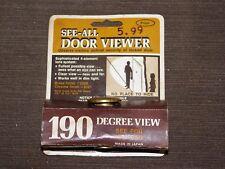 VINTAGE PEEP HOLE SEE ALL 190 DEGREE VIEW DOOR VIEWER UNUSED