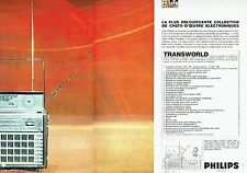 Publicité Advertising  0817  1967  transistor Transworld (2 pag) Philips