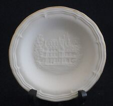 "Fine German Bisque Porcelain ""Castle"" Embossed Decorative Plate by Hochst"