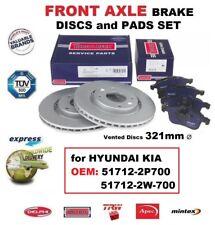 FRONT BRAKE PADS + DISCS 321mm Dia for HYUNDAI KIA OEM: 51712-2P700 51712-2W-700