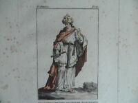 Gravur Farbig Kostüm der Ersten Ministers Der Egipte Janinet XVIII 1788