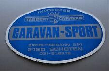 Aufkleber Tabbert Caravan Händler Schoten Belgien Wohnwagen 70s Oldtimer Sticker
