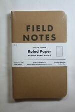 Field Notes Ruled Paper Memo Books 3 Pack Fn 02 35 X 55 48pg Sealed New