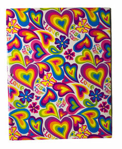 2004 Lisa Frank Hearts Retro Pocket Folder for 3 Ring Binder