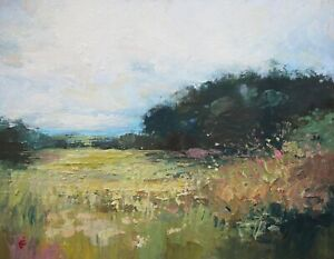 James Carlisle - 1937-2019 - Northumberland landscape - jewel of a painting