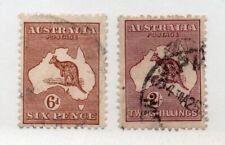 Australia - Sg# 73 & 74 Used / wmk 6 Narrow Crown - Lot 0720154
