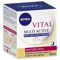 Nivea Vital Multi Active Anti Age Night Cream with Soy 50ml reduce wrinkles