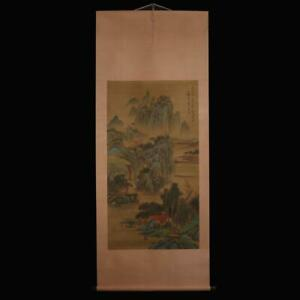 Huang Gongwang Signed Old Chinese Hand Painted Calligraphy Scroll w/landscape