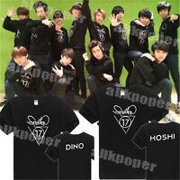 KPOP SEVENTEEN 17 Tshirt New T-Shirt Unisex Short Sleeve Woozi Tee JOSHUA Cotton