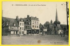 CPA France 60 - GRANVILLIERS Place BARBIER BANQUE ADAM Commerce LA RUCHE Eglise