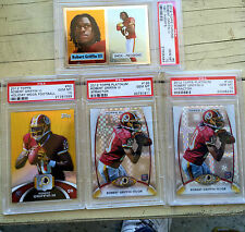 Robert Griffin III Rookie card lot of four PSA graded all Perfect Tens!