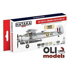 RAF Coastal Command & RN FAA Paint Set 6x17ml - HATAKA AS49