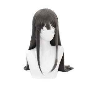 Bunny Girl Senpai Sakurajima Mai Dark Gray Long Cosplay Wig