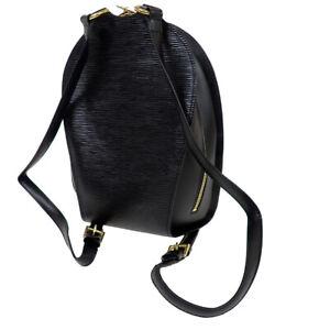 LOUIS VUITTON LV Mabillon Backpack Bag Epi Leather Black France M52232 79BU386