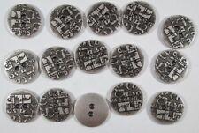 Metall  Knopf Knöpfe 20  Stück  silber      15 mm groß    #540#