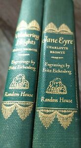 1943 Random House Book Set Jane Eyre and Wuthering Heights Bronte Sisters