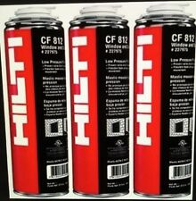 HILTI CF 812 WINDOW & DOOR FOAM (3 CANS), BEST INSULATION, FREE HAT, FAST SHIP